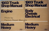 1983 Truck Shop Manual Engine Body Chassis Electrical Medium, Heavy Volume 1, 2