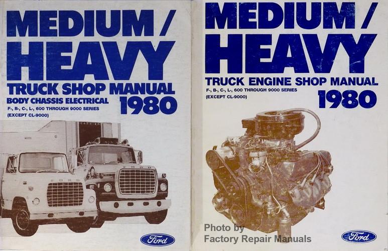 1980 ford medium and heavy duty truck factory shop service manual rh factoryrepairmanuals com Ford L8000 Parts Catalog Ford L8000 Parts Manual