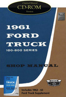 1961 1962 1963 Ford 100-800 Truck Factory Shop Service Manual CD