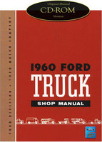 1960 Ford Truck F-100 F-250 F-350 P-350 B-600 Bus Factory Shop Service Manual CD