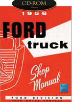 1956 Ford Truck F-100 F-250 F-350 P-350 B-600 Bus Factory Shop Service Manual CD