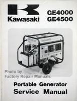 Kawasaki GE4000 GE4500 Portable Generator Service Manual