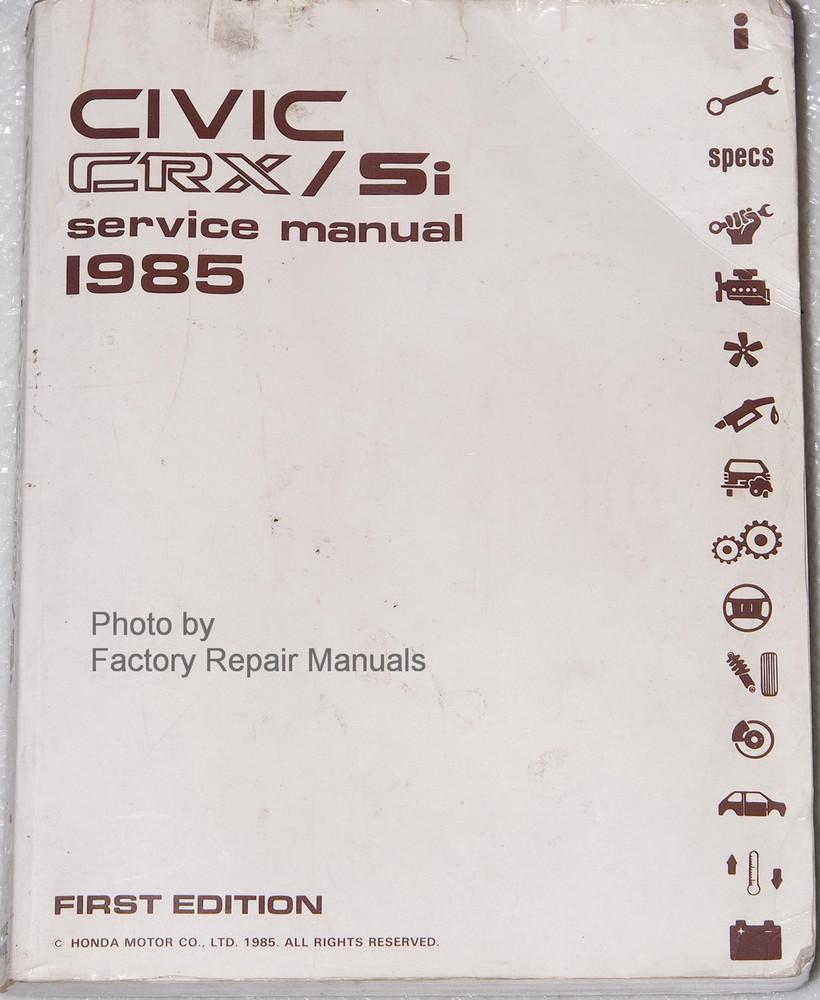 1985 honda civic crx si factory service manual original shop repair rh factoryrepairmanuals com honda civic si owners manual 2015 honda civic si service manual