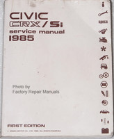 Civic CRX/Si Service Manual 1985