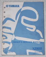2004 Yamaha YZ85 Original Owners Service Manual YZ85S Shop Repair