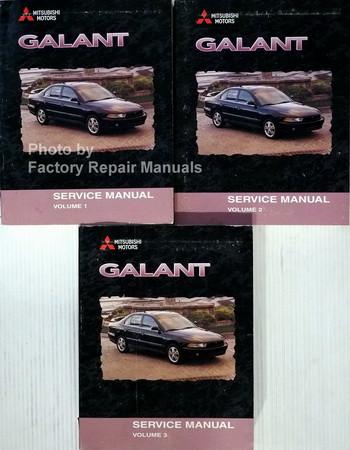 1999 2000 mitsubishi galant factory service manual set original shop rh factoryrepairmanuals com 2003 Mitsubishi Galant Repair Manual 1999 mitsubishi galant repair manual pdf