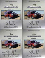 2007 Jeep Commander Factory Shop Service Manual 4 Volume Set