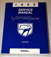 1996 Dodge Viper GTS Coupe Factory Shop Service Manual