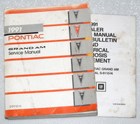 1991 PONTIAC GRAND AM Service Manual + Update LE SE Coupe Sedan OEM Shop Repair