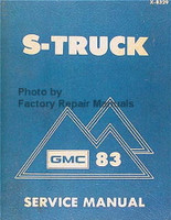 1983 GMC S-Truck Service Manual S-15 Pickup and Jimmy