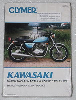 1974 1995 KAWASAKI KZ 400 KZ440 Z400 Z 440 EN450 EN500 Clymer Shop Repair Manual