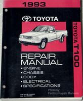 1993 Toyota T100 Truck Factory Service Manual Original Shop Repair
