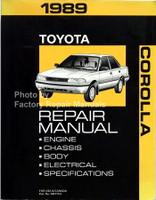 1989 toyota corolla electrical wiring diagrams manual original ewd rh factoryrepairmanuals com 85 Toyota Corolla 78 Toyota Corolla