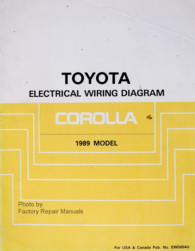 1989 toyota corolla electrical wiring diagrams manual original ewd rh factoryrepairmanuals com 1989 Toyota Corolla Blue Book 1989 toyota corolla repair manual pdf