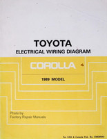 1989 Toyota Corolla Electrical Wiring Diagrams