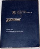 1987 Cadillac Service Information Manual Brougham