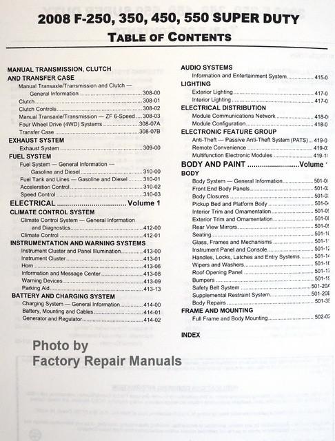 2008 ford f250 repair manual
