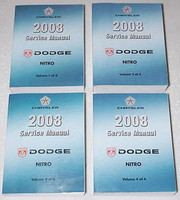 2008 Dodge Nitro Factory Service Manual Complete Set Original Shop Repair