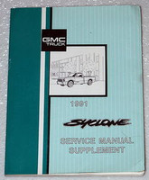 1991 GMC Syclone Pick-up Truck Factory Service Manual Supplement - Shop Repair