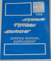 1992 GMC Syclone Typhoon Sonoma GT Service Manual Supplement Factory Shop Repair