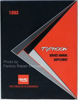 1993 GMC Jimmy Typhoon Factory Service Manual Supplement - Original Shop Repair