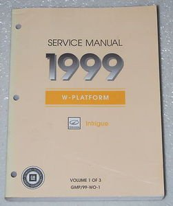 1999 oldsmobile intrigue service manual factory shop repair volume rh factoryrepairmanuals com oldsmobile intrigue service manual torrent 1999 oldsmobile intrigue owner's manual