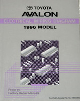 1995 Toyota Avalon Electrical Wiring Diagrams Original Factory Manual