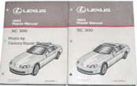 Lexus 1993 Repair Manual SC 300 Volume 1, 2