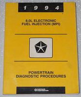 1994 Dodge 2500 3500 Ram Truck 8.0L Powertrain Diagnostic Shop Procedures Manual