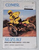 1975 1981 SUZUKI RM50 RM80 RM100 RM125 RM250 RM370 RM400 Clymer Repair Manual