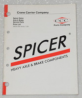 SPICER EATON Heavy Axle & Brake Service Parts Price List Manual 2001 CCC Co