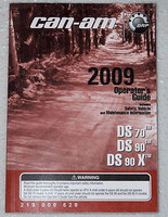 2009 CAN-AM DS70 DS90 X ATV Operators Guide Owners Manual DS 70 90 90X 219000629