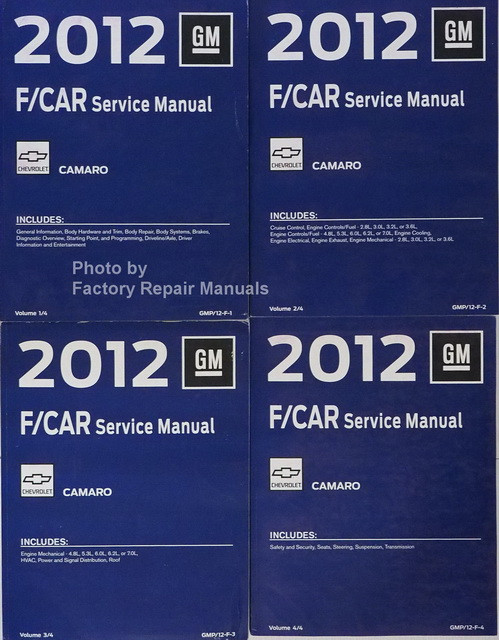 2012 GM F/Car Camaro Service Manual Volume 1, 2, 3, 4