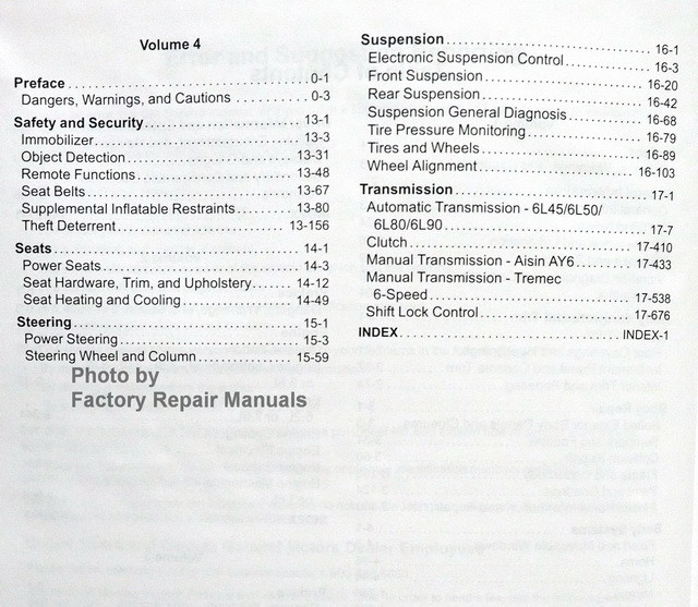 2012 GM F/Car Camaro Service Manual Table of Contents 2