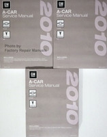2010 GM A Car Chevrolet Cobalt Pontiac G5 Service Manual Volume 1, 2, 3