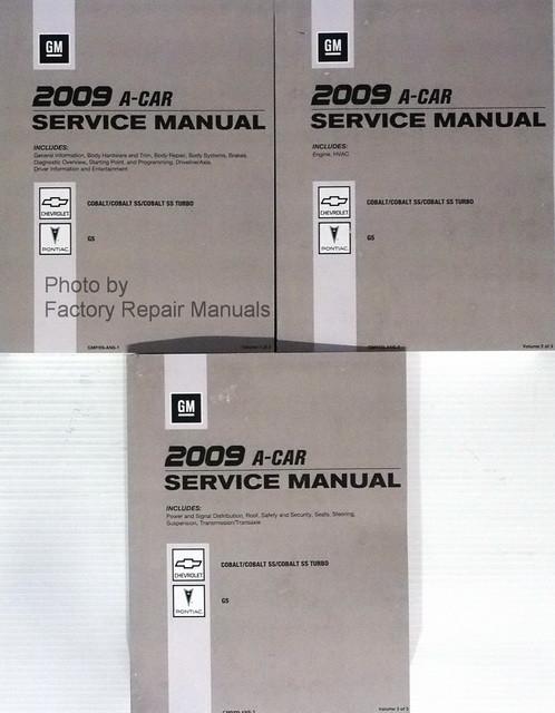 2009 chevrolet cobalt pontiac g5 factory shop service repair rh factoryrepairmanuals com 2009 cobalt ss service manual 2009 chevrolet cobalt service manual