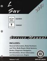2007 Chevy Equinox Pontiac Torrent Factory Service Manual Set Original Shop Repair