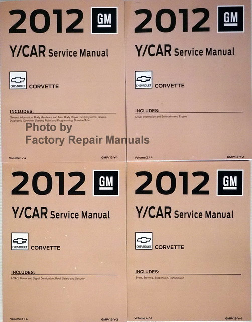 2012 chevy corvette factory service manual set original shop repair rh factoryrepairmanuals com 2012 corvette z06 owners manual 2012 corvette owners manual