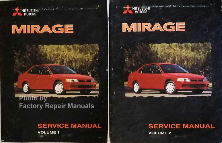 1998 mitsubishi mirage factory service manual set original shop rh factoryrepairmanuals com 00 Mitsubishi Mirage Body Kit 97 Mitsubishi Mirage