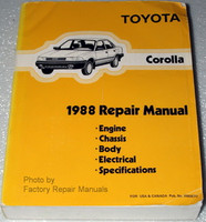 Toyota Corolla 1988 Repair Manual