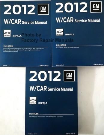 2012 chevy impala service manual set original shop repair factory rh factoryrepairmanuals com 2002 Chevy Impala 2001 chevy impala repair manual pdf