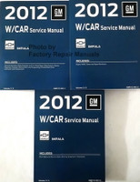 2012 GM W Car Service Manual Chevrolet Impala Volume 1, 2, 3
