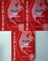 Workshop Manual Ford 2007 Mustang Volume 1, 2a, 2b