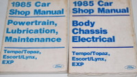 1985 Ford Tempo Escort EXP, Mercury Topaz Lynx Factory Shop Manuals