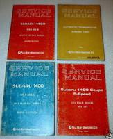 1974 SUBARU 1400 DL GL Service Manual 4 Volume Set Sedan Coupe Wagon Shop Repair