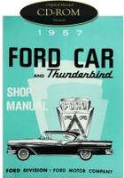 1957 Ford Car and Thunderbird Shop Manual CD