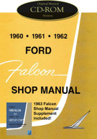 1960 1963 Ford Falcon Futura Ranchero Mercury Comet Shop Service Manual CD 61 62