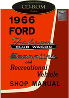 1966 Ford Falcon Club Wagon Econoline Van & RV Shop Service Manual CD E100  E160