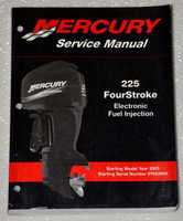 2003 2011 MERCURY OUTBOARD 225 4 STROKE EFI Service Manual Factory Shop Repair
