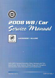 2008 buick lacrosse allure factory service manual shop repair set rh factoryrepairmanuals com Intek 190 Pressure Washer Manual Honda 9Hp Engine Shop Manual